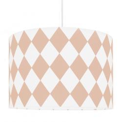 Young Deco - Lampa Sufitowa Biało-Różowe Romby