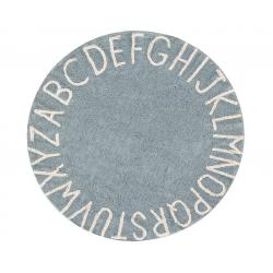 Dywan Round ABC Vintage Blue Natural