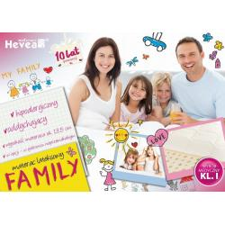 Materac Hevea Family lateksowy 200x80