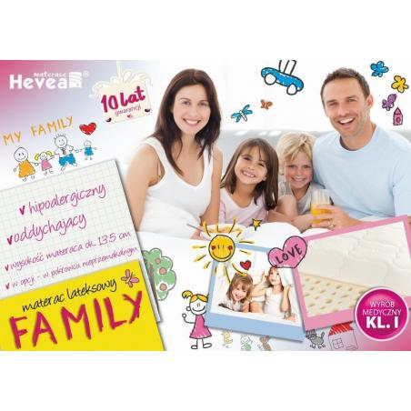 Materac Hevea Family lateksowy 200x140