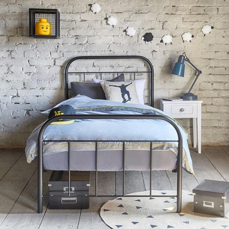 Łóżko metalowe Avos - czarne
