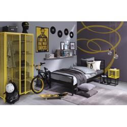 Łóżko metalowe Profi - czarne