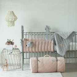 Łóżko metalowe Mono - szare