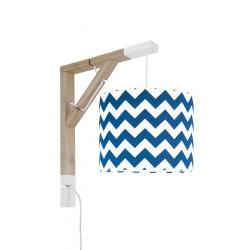 Young Deco - Lampa Simple Chevron Granatowy