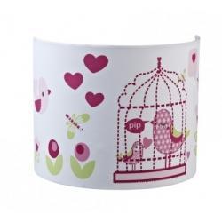 Kids Concept Lampa Kinkiet Ptaszki Różowe