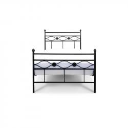 Łóżko metalowe Floris - czarne