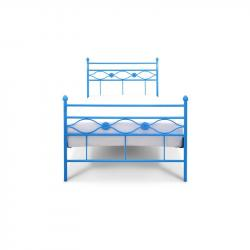 Łóżko metalowe Floris - niebieskie