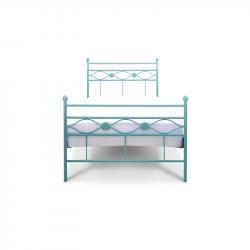Łóżko metalowe Floris - turkusowe