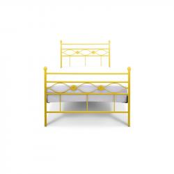 Łóżko metalowe Floris - żółte