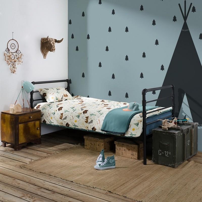 Łóżko metalowe Nexus - czarne