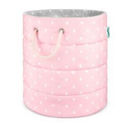Lamps&Co Kosz Na Zabawki Lovely Dots Pink&Grey