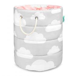 Lamps&Co Kosz Na Zabawki Chmurki Pink&Grey