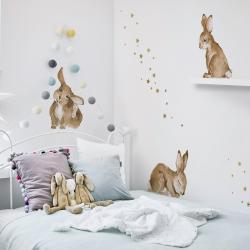 Naklejka Happy Rabbits Wonderland