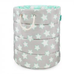 Lamps&Co Kosz Na Zabawki Mint&Grey Stars