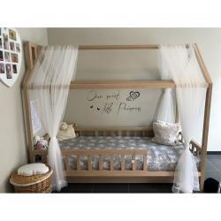 Łóżko Domek Adventure Naturalny (z szufladą) 180x90