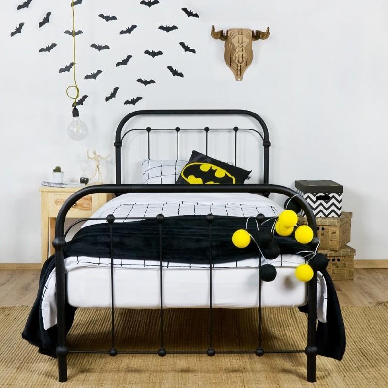 Łóżko metalowe Retro - czarne
