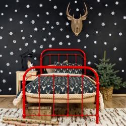 Łóżko metalowe Retro - czerwone