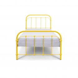 Babunia Łóżko Metalowe 120x200cm Żółte