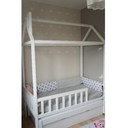Łóżko Domek Adventure +1 160x80 Biały (z szufladą + opcja dodatkowego spania)