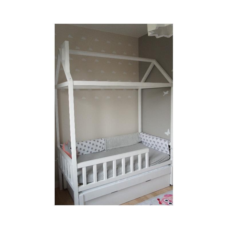 Łóżko Domek Adventure +1 180x90 Biały (z szufladą + opcja dodatkowego spania)