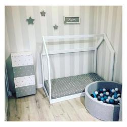 Łóżko Domek Basic 160x80 Naturalny
