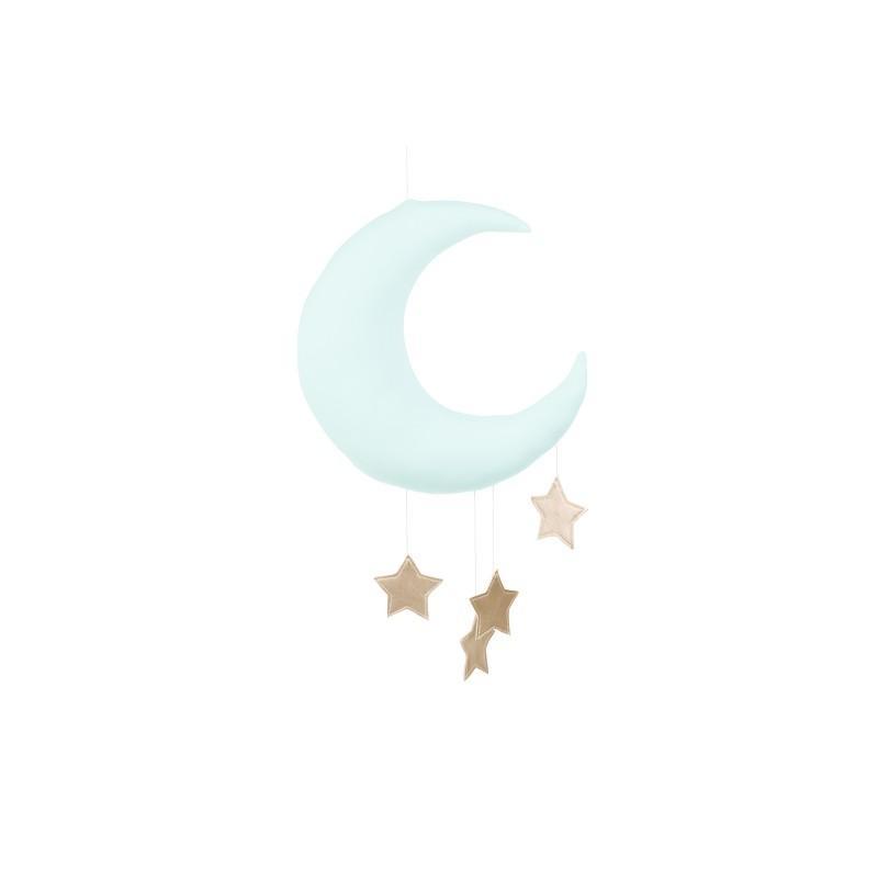Cotton&Sweets Księżyc Dekoracyjny Miętowy