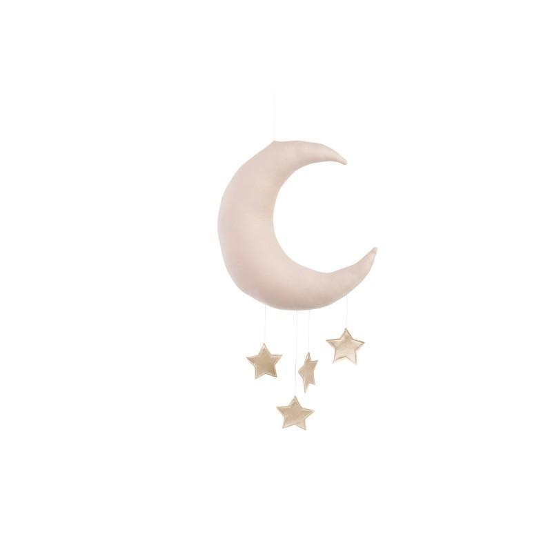 Cotton&Sweets Księżyc Dekoracyjny Pudrowy Róż