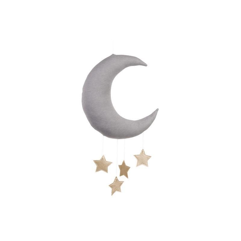 Cotton&Sweets Księżyc Dekoracyjny Szary