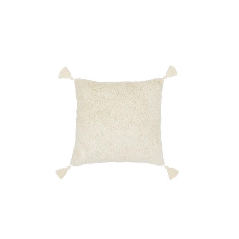 Cotton&Sweets Kwadratowa Futrzana Poduszka z Chwostami