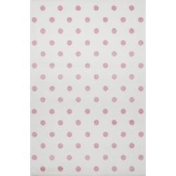 Kids Love Rugs Dywan Dots Creme-Pink 120x170cm