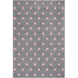 KidsLoveRugs Dywan Dots Grey-Pink 120x170cm