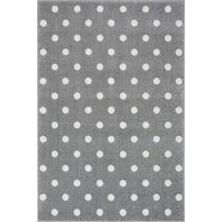 KidsLoveRugs Dywan Dots Grey-White 160x220cm