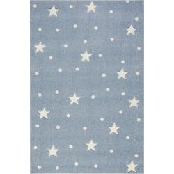 KidsLoveRugs Dywan Galaxy Blue-White 120x170cm