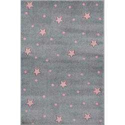KidsLoveRugs Dywan Galaxy Grey-Pink 120x170cm