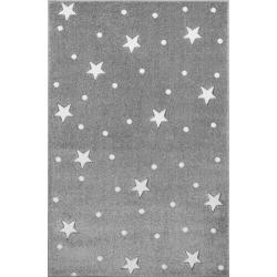KidsLoveRugs Dywan Galaxy Grey-White 120x170cm