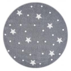 Dywan Okrągły Galaxy Grey-White