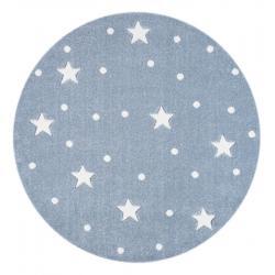 Dywan Okrągły Galaxy Blue-White
