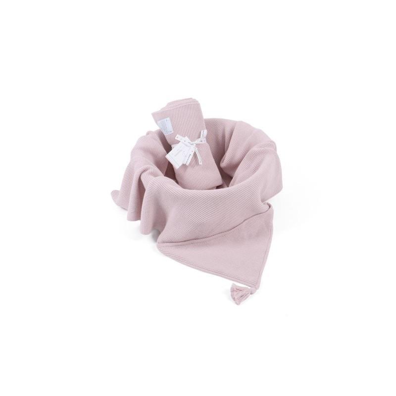 Kocyk z kapturem Bamboo Hoodie - Perłowy róż