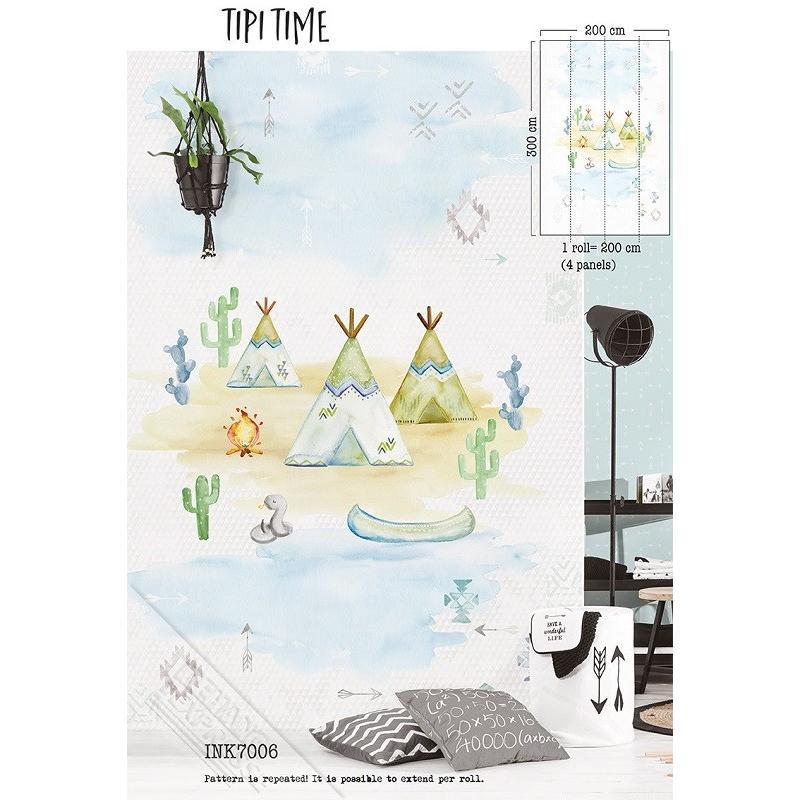 Mural Tipi Time INK 7006