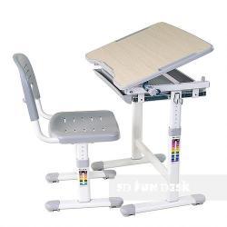 Piccolino Grey Regulowane Biurko + Krzesełko dla Dzieci