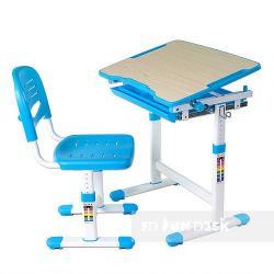 Piccolino Blue Regulowane Biurko + Krzesełko dla Dzieci