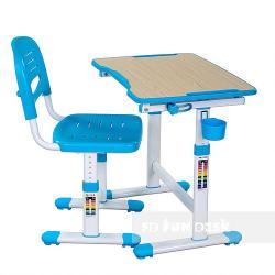 Piccolino II Blue Regulowane Biurko + Krzesełko dla Dzieci