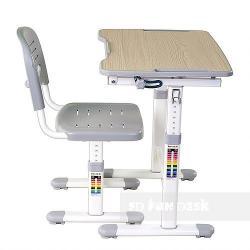 Piccolino II Grey Regulowane Biurko + Krzesełko dla Dzieci