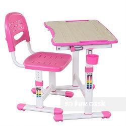 Piccolino II Pink Regulowane Biurko + Krzesełko dla Dzieci
