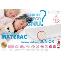 Materac lateksowy Hevea Junior 200x80 MEDICA (szara)