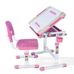 Bambino Pink Regulowane Biurko + Krzesełko dla Dzieci
