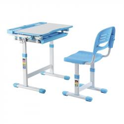 Cantare Blue Regulowane Biurko + Krzesełko dla Dzieci