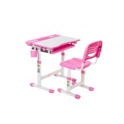 Cantare Pink Regulowane Biurko + Krzesełko dla Dzieci