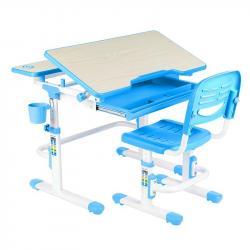 Lavaro Blue Regulowane Biurko + Krzesełko dla Dzieci