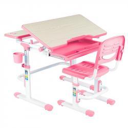Lavaro Pink Regulowane Biurko + Krzesełko dla Dzieci